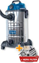 Scheppach ASP30OES - Nat- en droogstofzuiger - 30l - RVS