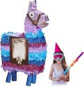 relaxdays pinata lama - verjaardagspinata alpaca - zonder vulling - kinderverjaardag