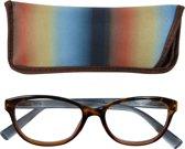 Lilly&june Leesbril Havana en Blauw +3 - Met Bijpassend Etui