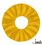 Jumalu scrunchie velvet haarwokkel haarelastiekjes - oker geel - 1 stuk