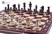 Sunrise-schaakbord met schaakstukken – Schaakspel -49x49cm. Luxe uitvoering