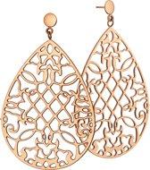 The Jewelry Collection Oorhangers Opengewerkt - Staal