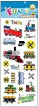 Stickervel treintjes en wagons
