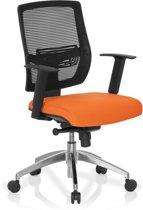 hjh office Net Go - Bureaustoel - Netstof - Zwart / oranje