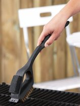 Barbecue Brush - Barbecueborstel 3 in 1 RVS met Grip - Reinigingsborstel - BBQ - Scraper -