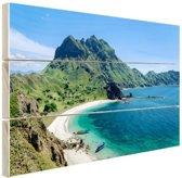 FotoCadeau.nl - Uitzicht over Padar eiland Indonesie Hout 80x60 cm - Foto print op Hout (Wanddecoratie)