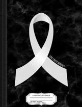 Lung Cancer Awareness Ribbon Composition Notebook