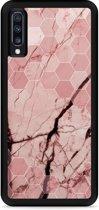 Galaxy A70 Hardcase hoesje Pink Marble