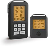 Burnhard Digitale Vleesthermometer | BBQ thermometer draadloos | Voedselthermometer met 4 temperatuursensoren