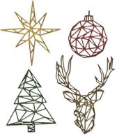Sizzix Thinlits Die Set - 4PK Geo Christmas 664202 Tim Holtz