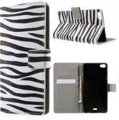 Zebra print wallet case hoesje Huawei G Play Mini
