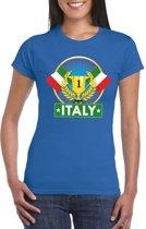 Blauw Italie supporter kampioen shirt dames L