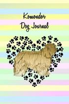 Komondor Dog Journal: Blank Lined Notebook, Dog and Puppy Lovers