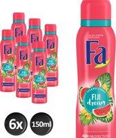 Fa Fiji Dream Deodorant Spray 150 ml - 6 stuks - Voordeelverpakking
