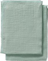 Cottonbaby Multidoek soft S 60x70 per 2 oudgroen
