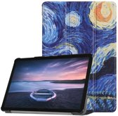 Samsung Galaxy Tab S4 hoesje - Smart Tri-Fold Case - Starry Night