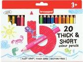 Bruynzeel Kids 20 korte dikke kleurpotloden met slijper
