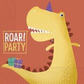 Procos Servetten Dinosaur Roar 33 X 33 Cm 20 Stuks
