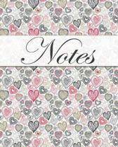 Notes, Hearts, Jotter, Notebook, Lined Pages, Note Pad, Journal