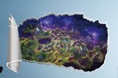 3D - Fortnite - landscape - muursticker - muurposter - zelfklevend
