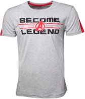 Marvel Avengers: Infinity War Heren Tshirt -XL- Become A Legend Grijs