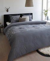 Beddinghouse Beautiful Day Flanel Dekbedovertrek - Bluegrey - Eenpersoons - 140x200/220