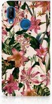 Huawei P20 Lite Stand Case Hoesje Flowers