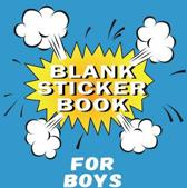 Blank Sticker Book for Boys