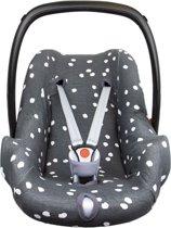 Briljant Baby Autostoelhoes interlock - iron - spots - maat 0+