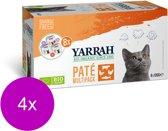 Yarrah Bio Kat Mult-Pack Alu Kuip - Kattenvoer - 4 x 8x100 g