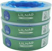 LILNAP - navulcassettes voor Angelcare luieremmer 3 stuks( smalle rol) 40 % meer dan de angelcare zelf