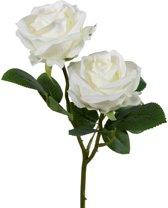 Viv! Home Luxuries - Roos - zijden bloem - wit - topkwaliteit
