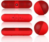 Fivestar Portable Bluetooth Wireless Speaker met TF Card Reader rood