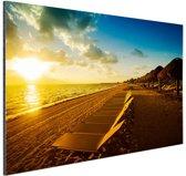 Cancun strand Mexico Aluminium 60x40 cm - Foto print op Aluminium (metaal wanddecoratie)