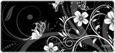 Muismat gaming witte bloemen 90 x 40 cm - Sleevy