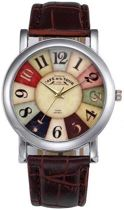 Vintage horloge bruin