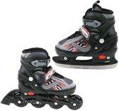 Inline Skate/Schaats 2in1 Abec 7 Zwart Maat 39-42