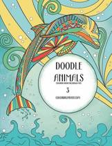 Doodle Animals Coloring Book for Grown-Ups 3