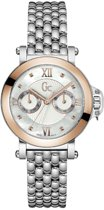 Gc Watches Femme Bijou Day/Date X40004L1S - Polshorloge - 36 mm - Zilver