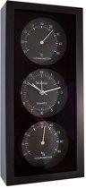 Klok, Thermometer en Hygrometer (zwart)