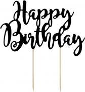 Taart topper Happy Birthday