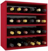 Wijnkast wijnrek Weino IV modulair samen te stellen rood