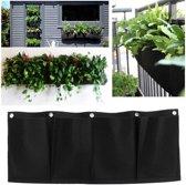 Plantenzak met 4 vakken - verticale tuin - Plantenhanger Balkon