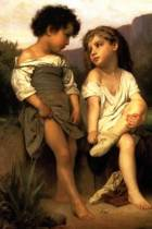 At the Edge of the Brook by William-Adolphe Bouguereau - 1879