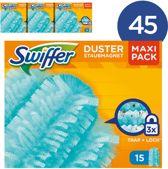 Swiffer Duster Navulling - Voordeelverpakking 45 Stuks (15x3) - Stofdoekjes