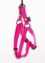 Martin sellier instap tuig voor hond nylon roze 15 mmx30-50 cm
