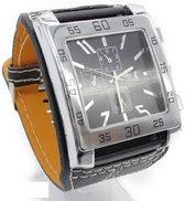 Horloge- 5 cm- Zwart- Gratis batterij- Unisex