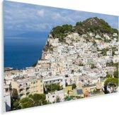 Uitzicht op de huizen van Capri in Italië Plexiglas 90x60 cm - Foto print op Glas (Plexiglas wanddecoratie)