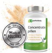 #1 Concentratie Pillen (60 Capsules!)   Verhoog Concentratie, Geheugen, Focus & Mentale Prestaties   Vervang Zoete Energiedrank   100% Nederlands, Natuurlijk & Veilig