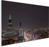 Nachtfoto met een heldere lucht in Riyad Plexiglas 160x120 cm - Foto print op Glas (Plexiglas wanddecoratie) XXL / Groot formaat!